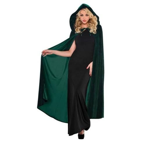 Renaissance Cape Halloween Costume Green