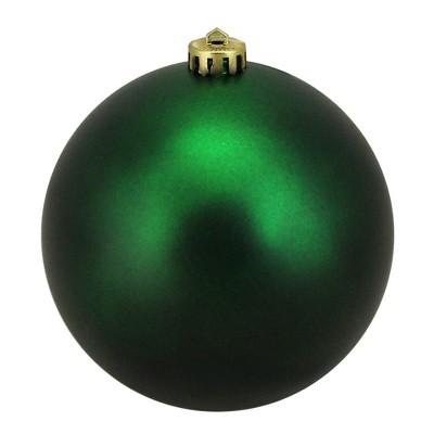 """Northlight 6"""" Shatterproof Matte Christmas Ball Ornament - Green"""