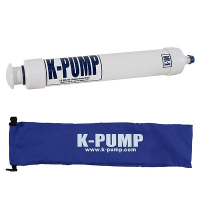 K-Pump K-100 Compact Portable Inflatable Kayak Raft Boat Water Sport Hand Air Inflation Pump with Storage Bag