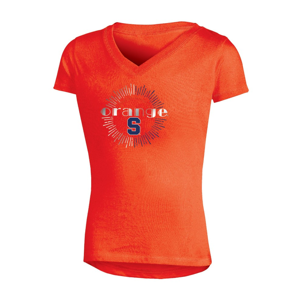 NCAA Girls' V-Neck T-Shirt Syracuse Orange - M, Multicolored