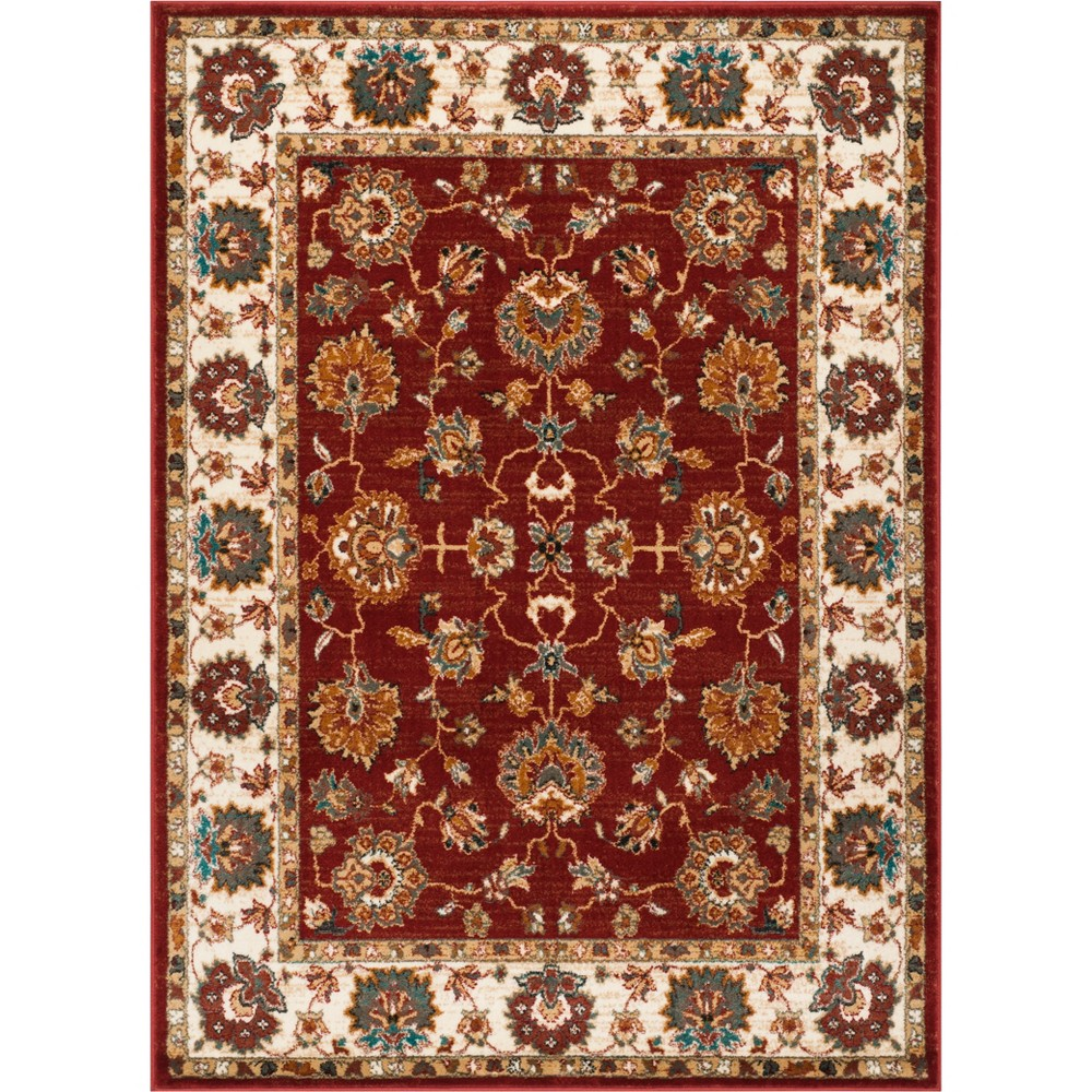 9'X12' Floral Loomed Area Rug Ivory/Gray - Safavieh