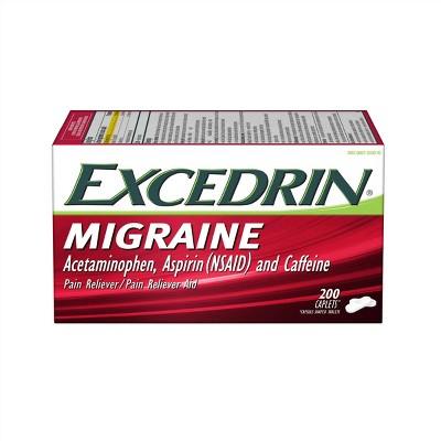 Excedrin Migraine Pain Reliever Caplets - Acetaminophen/Aspirin (NSAID)