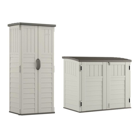 Suncast Resin Versatile Vertical Storage Shed Building & Horizontal Storage Shed - image 1 of 4