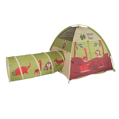 Pacific Play Tents Kids Jungle Safari Play Tent And Tunnel Set Combo 4' x 4'