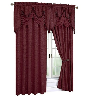 Kate Aurora Royal Living Complete 4 Piece Semi Sheer Window Curtains And Valances Set