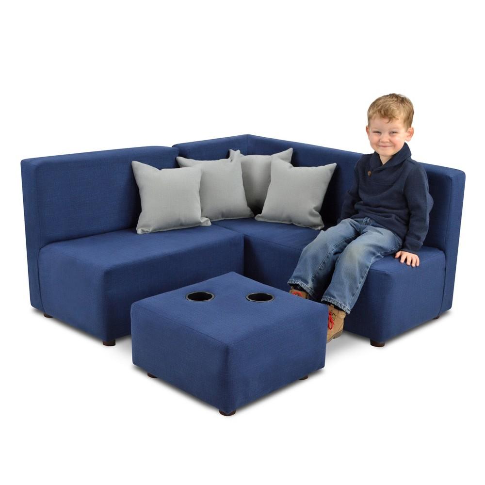 7pc Kid's Sectional Set Navy (Blue) - Kangaroo Trading