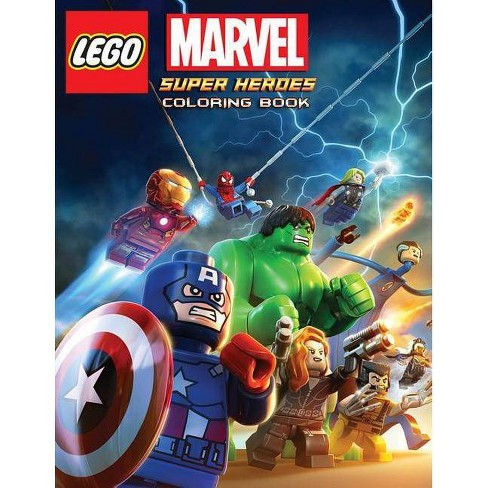 LEGO Marvel Super Heroes Coloring Book - by Rose Sapana (Paperback)