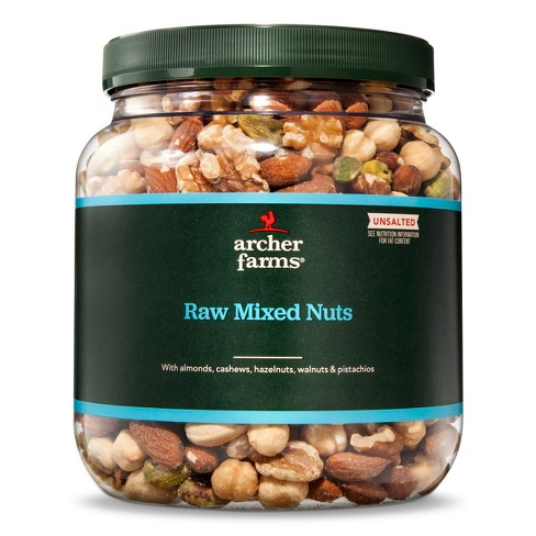 Unsalted Raw Mixed Deluxe Nuts - 30oz - Archer Farms™ : Target on planters mixed nuts tin, planters salted mixed nuts, planters mixed nuts ingredients, planters roasted mixed nuts,