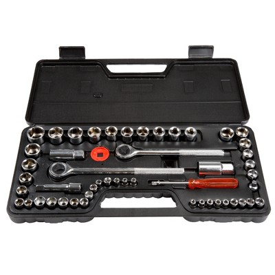 Stalwart 52pc with Socket Set SAE and Metric Hand Tool Set Clear