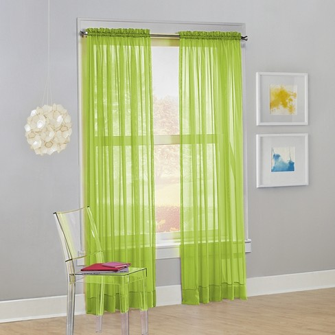 No. 918 Calypso Sheer Voile Rod Pocket Curtain Panel - image 1 of 3