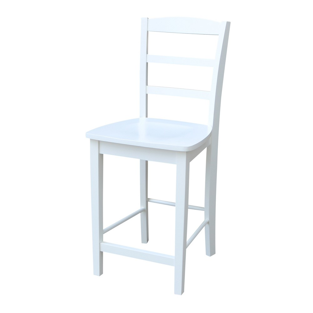 "Image of ""24.02"""" Madrid Counter height Stool White - International Concepts"""