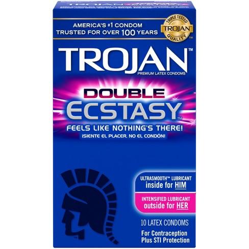 trojan double ecstasy lubricated condoms 10ct target
