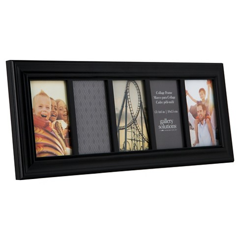 6x20 Black 5 Opening Linear Collage Frame Gallery Solutions Target