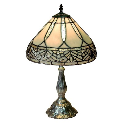 Tiffany Style White Jewels Table Lamp (Lamp Only)
