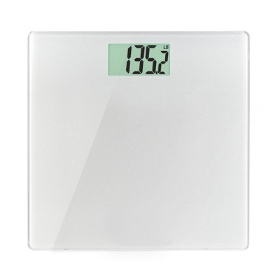 Glass Weight Tracking Scale White - Health o Meter