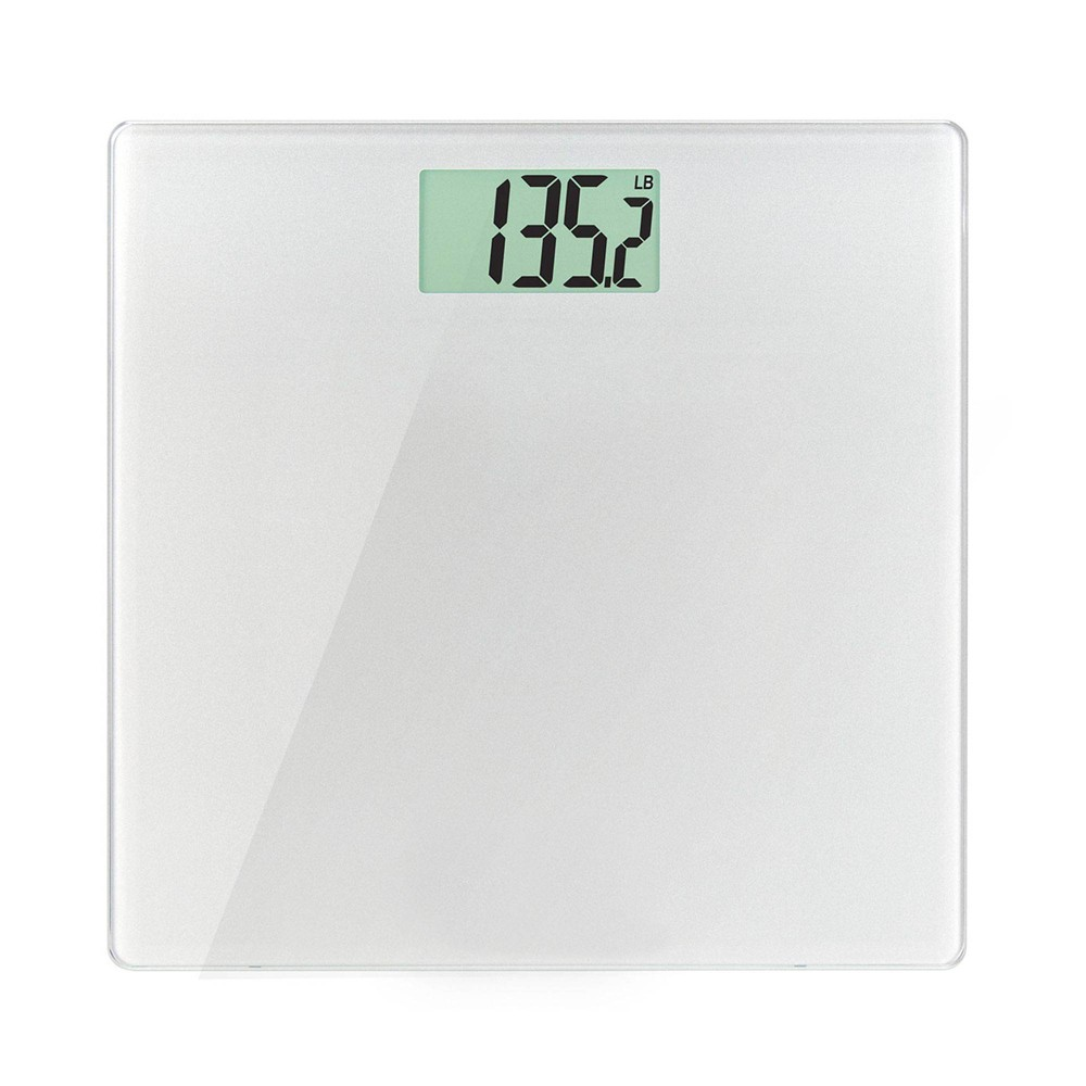 Glass Weight Tracking Scale White Health O Meter