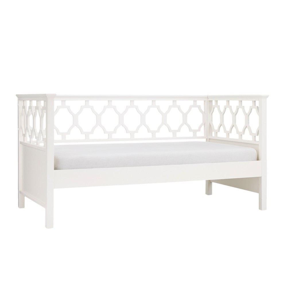 Twin Jules Quatrefoil Back Wood Daybed White - Inspire Q
