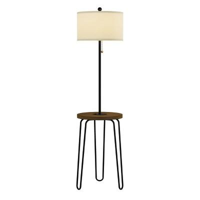 Floor Lamp End Table (Includes LED Light Bulb) - Modern Hairpin Legs
