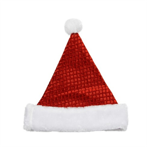 Northlight Red and White Waffle Weave Santa Claus Unisex Adult Christmas Hat Costume Accessory - One Size - image 1 of 1