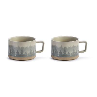 DEMDACO At Home Among the Trees Soup Mug - Set of 2 Grey
