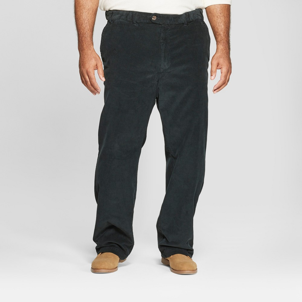 Men's Big & Tall Straight Fit Corduroy Trouser - Goodfellow & Co Old World Navy 54x32 Wearing jeans day in, day out gets a little boring — so mix things up with the Straight-Fit Corduroy Trouser from Goodfellow and Co. These ultra soft, ultra comfortable bottoms have a straight fit for a classic, flattering look, and are easy to pair with a variety of tops. Finish them off with a button down, polo or V-neck sweater for a cool, put-together look. Size: 54x32. Color: Old World Navy. Gender: Male. Age Group: Adult. Pattern: Solid. Material: Cotton.