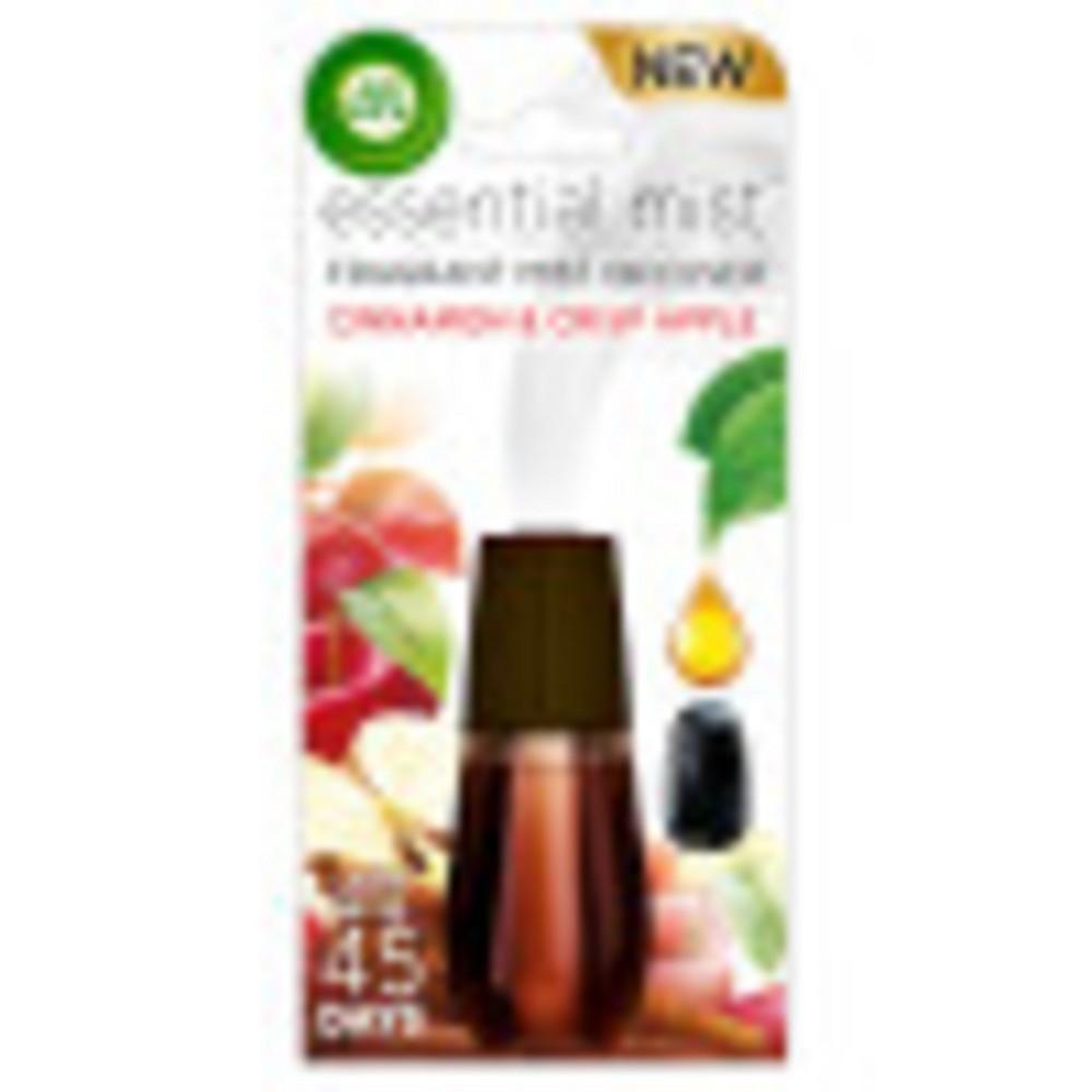 Image of Air Wick Essential Mist Cinnamon & Crisp Apple Air Freshener Refill - 0.67oz, Multi-Colored