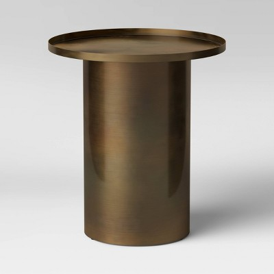 Burnaby Round Drum End Table Black - Project 62™