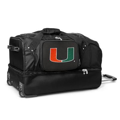 """NCAA Mojo  27"""" Rolling Drop Bottom Duffel Bag"""