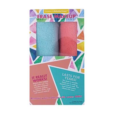 Erase Makeup Facial Cleanser Teal & Coral - 2pk