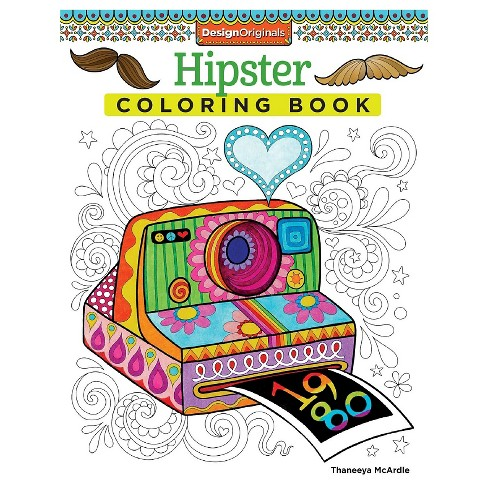 Hipster Adult Coloring Book - image 1 of 1