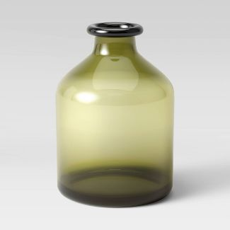 "7.6"" x 5.3"" Glass Vase Green - Threshold™"