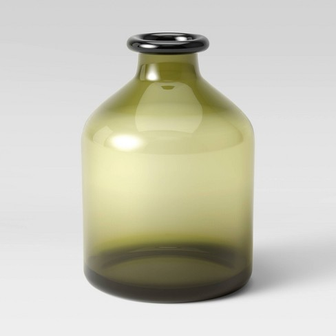 "7.6"" x 5.3"" Glass Vase Green - Threshold™ - image 1 of 3"