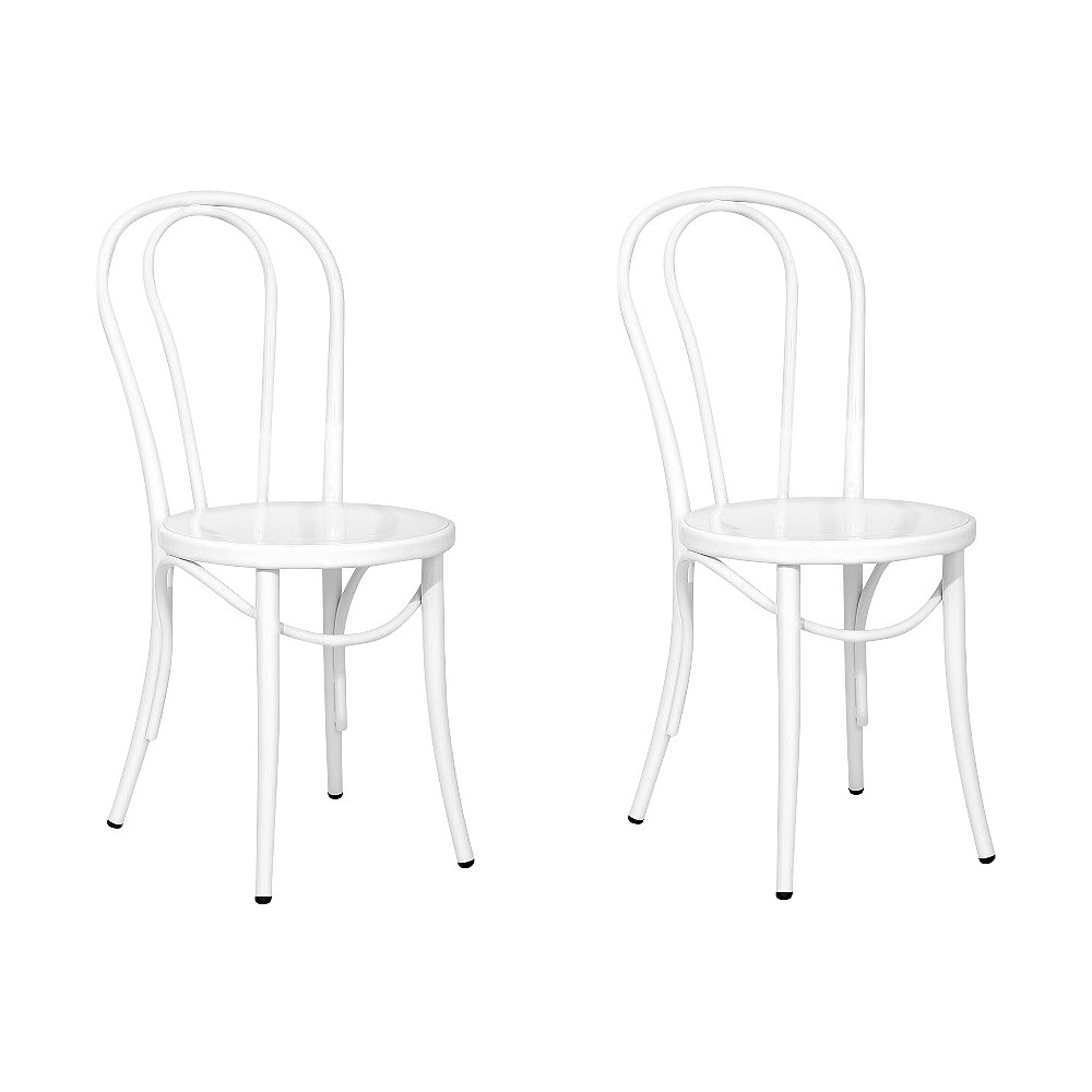 Ellie Bistro Dining Chair (Set of 2) - Reservation Seating by Ace Bayou, White