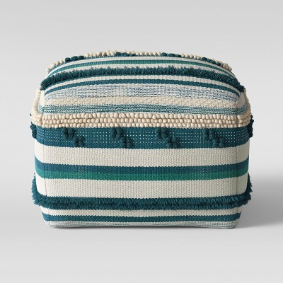 Lory Pouf Teal and Green Textured - Opalhouse™