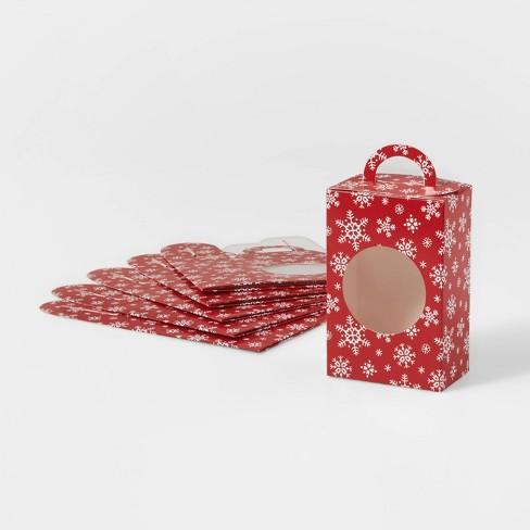 6ct Red Snowflake Window Treat Gift Box - Wondershop™ - image 1 of 2