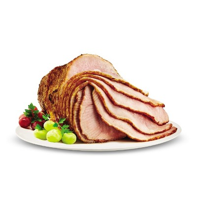 Hickory Smoked Spiral-Cut Bone-In Ham - 6-10 lbs - price per lb - Market Pantry™
