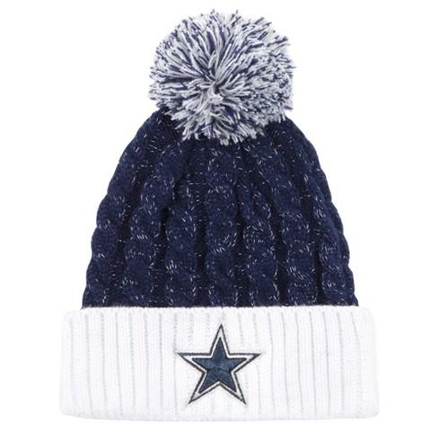 1f7454feb09634 NFL Women's Dallas Cowboys White Matterhorn Knit Hat : Target
