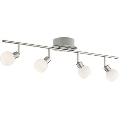 Pro Track® Globe Nickel 4-Light LED Plug-In Track Fixture
