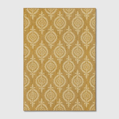 7'X10' Paisley Tufted Area Rugs Gold - Threshold™