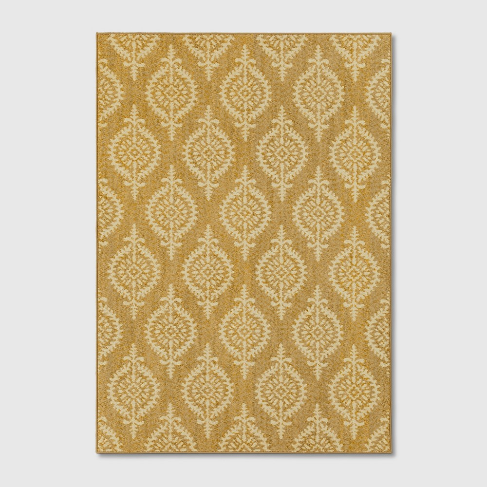 7'X10' Paisley Tufted Area Rugs Gold - Threshold
