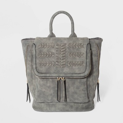 VR NYC Woven Flap Backpack - Gray