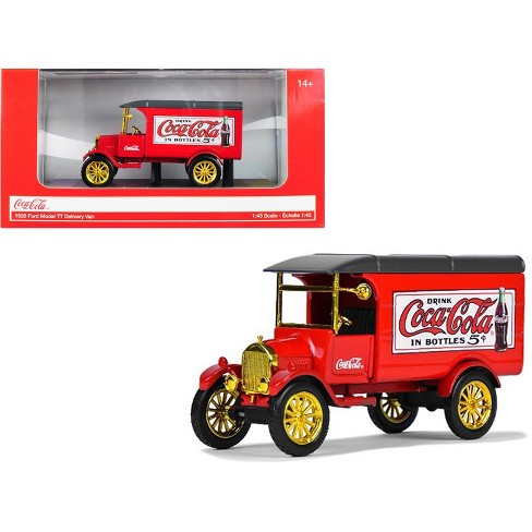 "1926 Ford Model TT Delivery Van ""Coca-Cola"" Red with Gold Wheels 1/43 Diecast Model Car by Motorcity Classics - image 1 of 2"
