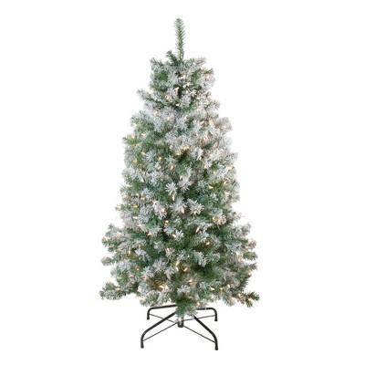 Northlight 4.5' Prelit Artificial Christmas Tree Flocked Winema Pine - Clear Lights