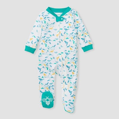 Burt's Bees Baby® Baby Boys' Shark Attack Sleep N' Play - Teal 3-6M
