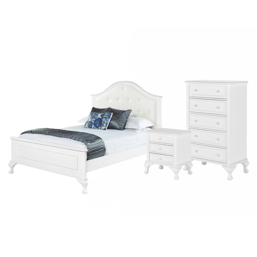 Image of 3pc Full Jenna Panel Bedroom Set White - Picket House Furnishings