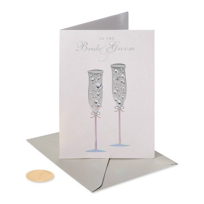 Champagne Flutes with Gems Card - PAPYRUS