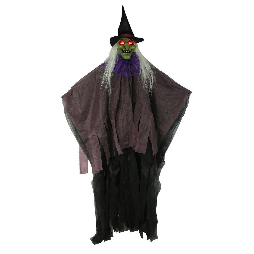 "Image of ""57"""" Witch Halloween Novelty Sculpture Light, Black"""
