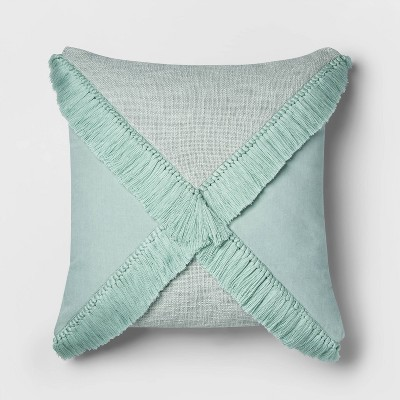 Dusty Jade Fringe X Euro Throw Pillow - Opalhouse™