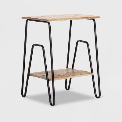 Cooper Industrial Side Table Brown - ClickDecor