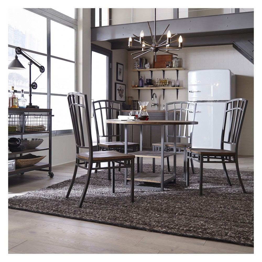 Image of 5pc Barnside Metro Dining Set - Gray - Home Styles